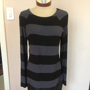 Bailey 44 Striped Dress with Faux Leather